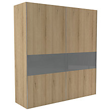 Buy John Lewis Leben 2 Door 200cm Glazed Panel Sliding Wardrobe Online at johnlewis.com