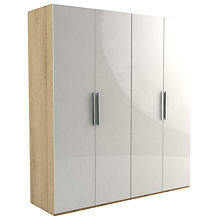 Buy John Lewis Leben 4 Door 200cm Wardrobe Online at johnlewis.com