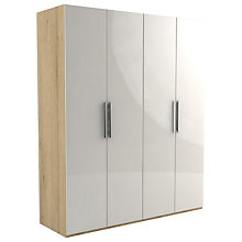 Buy John Lewis Leben 4 Door 180cm Hinged Wardrobe Online at johnlewis.com