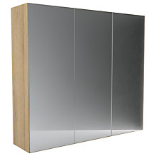 Buy John Lewis Leben 3 Door 240cm Mirrored Sliding Wardrobe Online at johnlewis.com