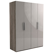 Buy John Lewis Leben 4 Door 160cm Hinged Wardrobe Online at johnlewis.com