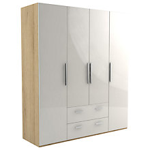 Buy John Lewis Leben 4 Door and 2 Drawer Linen-Press 190cm Wardrobe Online at johnlewis.com
