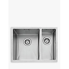 Buy John Lewis Undermount 1.5 Left Hand Bowl Sink, Stainless Steel Online at johnlewis.com