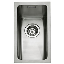 Buy John Lewis Undermount Half Bowl Sink, Stainless Steel Online at johnlewis.com