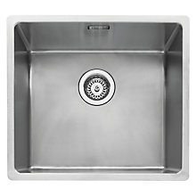 Buy John Lewis Undermount Single Bowl Sink, Stainless Steel Online at johnlewis.com