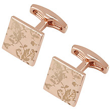 Buy Simon Carter Archive Leaf Cufflinks, Rose Gold Online at johnlewis.com