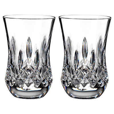 Waterford Lismore Connoisseur Flared Crystal Tumblers, Set of 2