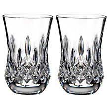 Buy Waterford Lismore Connoisseur Flared Crystal Tumblers, Set of 2 Online at johnlewis.com