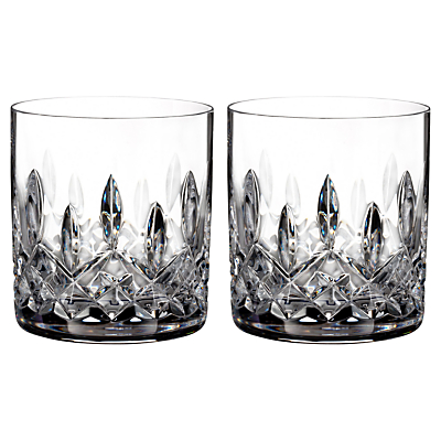 Waterford Lismore Connoisseur Straight Crystal Tumblers, Set of 2