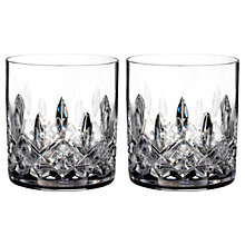 Buy Waterford Lismore Straight Crystal Tumblers, Set of 2 Online at johnlewis.com