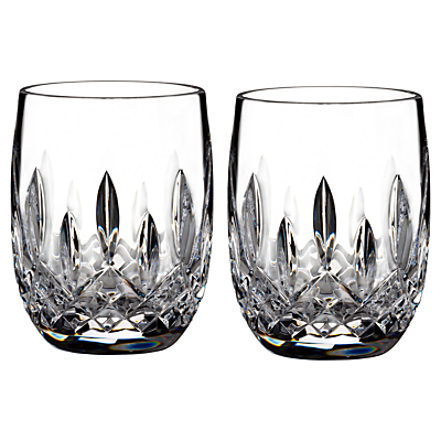 Waterford Lismore Connoisseur Rounded Crystal Tumbler, Set of 2