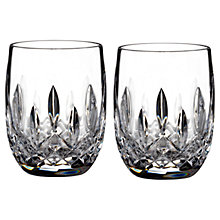 Buy Waterford Lismore Connoisseur Rounded Crystal Tumbler, Set of 2 Online at johnlewis.com