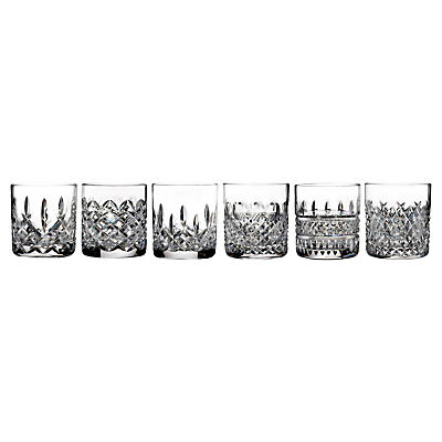 Waterford Lismore Connoisseur Straight Sided Crystal Glasses, Set of 6