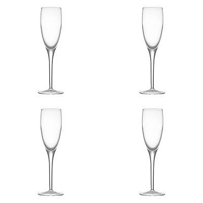 John Lewis Michelangelo Glassware, Glass Flute, Set of 4