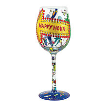 Buy Lolita Happy Hour Wine Glass, Multi Online at johnlewis.com