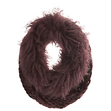 Buy Mint Velvet Mongolian Snood, Merlot Online at johnlewis.com