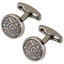 Buy Simon Carter Archive Spiral Circle Cufflinks, Mother of Pearl Online at johnlewis.com