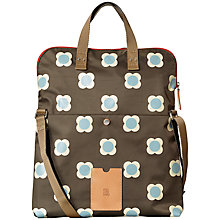 Buy Orla Kiely Buttercup Stem Printed Nylon Foldover Tote Bag, Driftwood Online at johnlewis.com