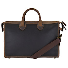 Buy Barbour Waxed Belsay Briefcase, Brown Online at johnlewis.com