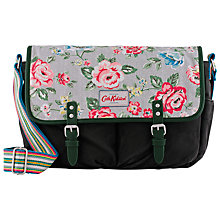 Buy Cath Kidston Rainbow Rose Saddle Bag, Dusty Blue Online at johnlewis.com