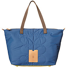 Buy Orla Kiely Quilted Nylon Zip Shopper Bag, Ocean Online at johnlewis.com