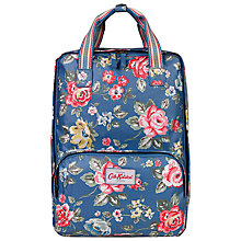 Buy Cath Kidston Rainbow Rose Backpack, True Blue Online at johnlewis.com