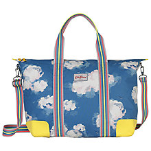 Buy Cath Kidston Clouds Foldaway Overnight Bag, True Blue Online at johnlewis.com