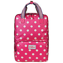 Buy Cath Kidston Button Spot Backpack, Raspberry Online at johnlewis.com