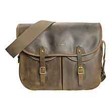 Buy Barbour Laird Tarras Leather Bag, Olive Online at johnlewis.com