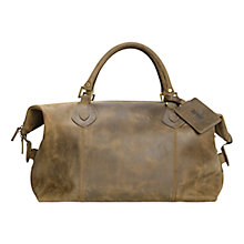 Buy Barbour Lyall Leather Explorer Bag, Olive Online at johnlewis.com