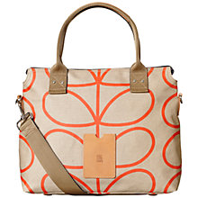 Buy Orla Kiely Giant Linear Stem Print Messenger Bag, Stone Online at johnlewis.com