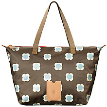 Buy Orla Kiely Buttercup Stem Printed Nylon Zip Shopper, Driftwood Online at johnlewis.com