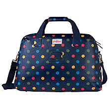 Buy Cath Kidston Button Spot Travel Bag, Blue/Multi Online at johnlewis.com