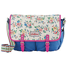 Buy Cath Kidston Kingswood Rose Saddle Bag, Cream/Blue Online at johnlewis.com
