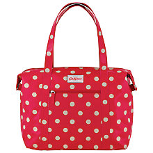 Buy Cath Kidston Button Spot Zipped Shoulder Bag, Cranberry Online at johnlewis.com