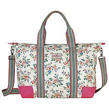 Buy Cath Kidston Kingswood Rose Foldaway Overnight Bag, Cream Online at johnlewis.com