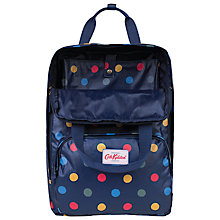 Buy Cath Kidston Button Spot Backpack, Navy/Multi Online at johnlewis.com