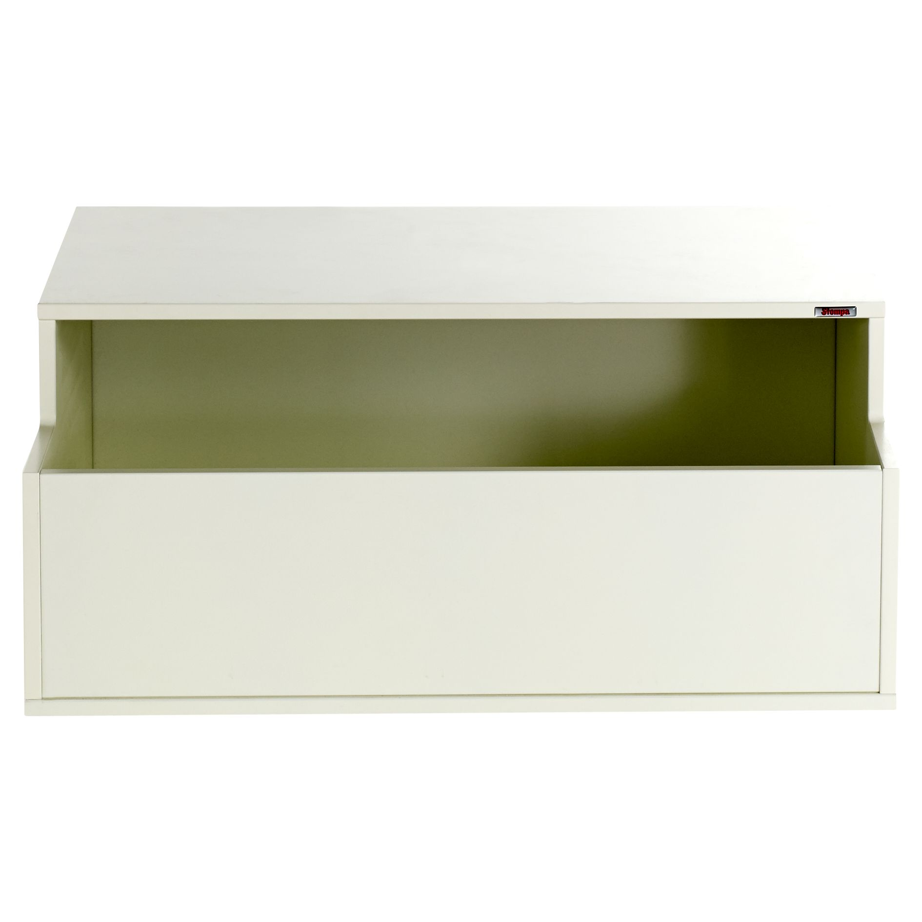Stompa Stompa Uno S Plus Deep Base Toy Box, White