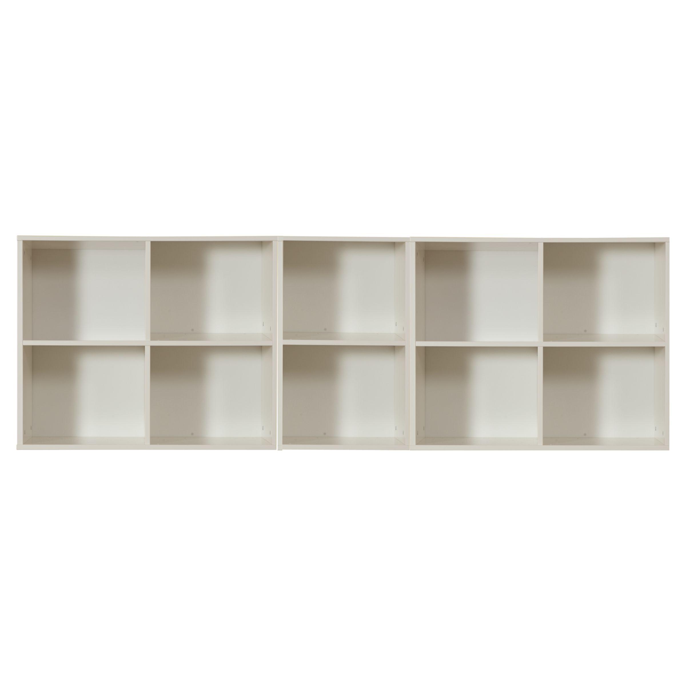 Stompa Stompa Uno S Plus Wide 3 Unit Storage Combination, White
