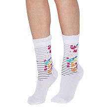 Buy Jonathan Aston Ecstatic Floral Ankle Socks, Multi Online at johnlewis.com