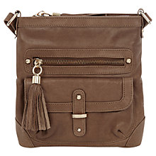 Buy Oasis Leather Lucy Suede Across Body Bag Online at johnlewis.com