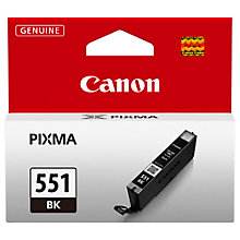 Buy Canon CLI-551BK Inkjet Cartridge, Black Online at johnlewis.com
