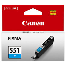 Buy Canon CLI-551 Colour Inkjet Cartridge Online at johnlewis.com