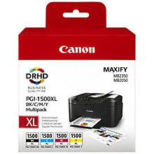 Buy Canon PGI-1500XL Colour Ink Cartridge Multipack Online at johnlewis.com