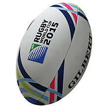 Buy Gilbert Official 2015 Rugby World Cup Replica Mini Rugby Ball, White Online at johnlewis.com