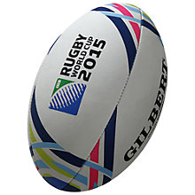 Buy Gilbert Official 2015 Rugby World Cup Replica Rugby Ball, White Online at johnlewis.com