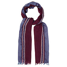 Buy White Stuff Plain With Selvedge Scarf, Purple Online at johnlewis.com