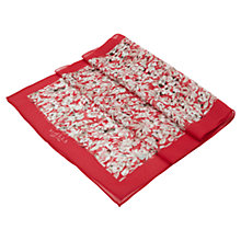 Buy Viyella Floral Printed Silk Scarf, Apple Online at johnlewis.com
