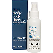 Buy This Works Deep Sleep Body Therapy, 100ml Online at johnlewis.com