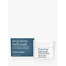 Buy This Works Deep Sleep Bath Soak, 200g Online at johnlewis.com